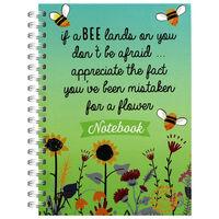 A6 Bee Flower Notebook