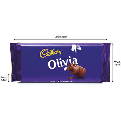 Cadbury Dairy Milk Chocolate Bar 110g - Olivia image number 3