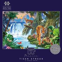 Tiger Streak 1000 Piece Silver-Foiled Premium Jigsaw Puzzle