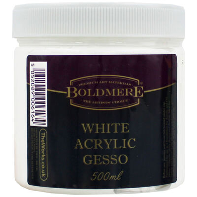 White Acrylic Gesso - 500ml image number 1