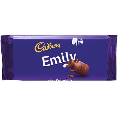 Cadbury Dairy Milk Chocolate Bar 110g - Emily image number 1