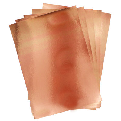 Dovecraft Essentials A4 Mirror Card - Rose Gold - 10 Sheets image number 2
