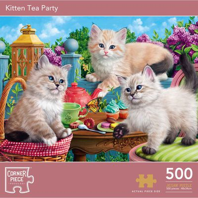 Kitten Tea Party 500 Piece Jigsaw Puzzle image number 1