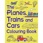 The Planes, Trains and Cars Colouring Book image number 1