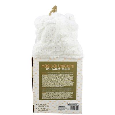White Magical Unicorn Hot Water Bottle image number 3