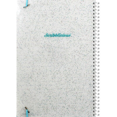 B5 Blue Glitter Big Ideas Lined Wiro Notebook image number 3