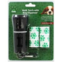 Crufts LED Walk Torch with Poop Bag Dispenser