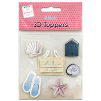 3D Beach Toppers: Pack of 6