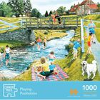 Playing Poohsticks 1000 Piece Jigsaw Puzzle image number 1