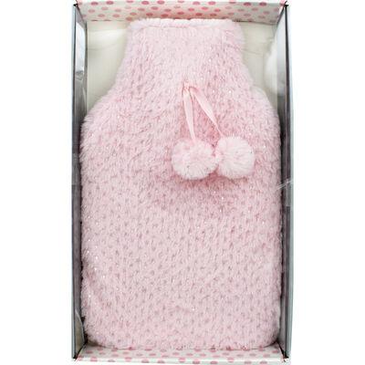 Pink Metallic Spot Super Soft Water Bottle image number 1