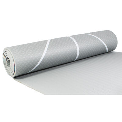 Grey Yoga Exercise Mat - 7mm Thickness image number 3