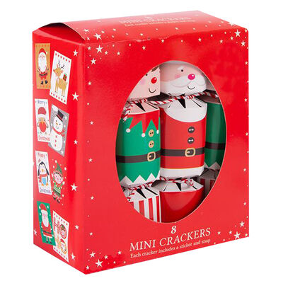 Assorted Mini Christmas Crackers: Pack of 8 image number 3