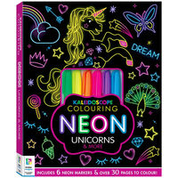 Kaleidoscope Colouring: Neon Unicorns and More