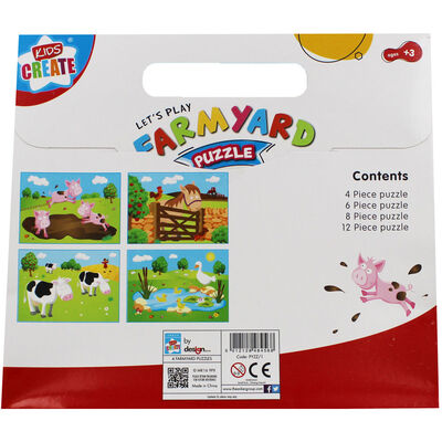 Farmyard 4-In-1 Puzzle Set image number 2