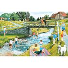 Playing Poohsticks 1000 Piece Jigsaw Puzzle image number 2