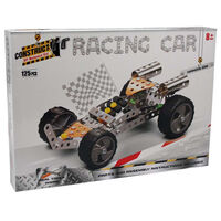 Metal Racing Car Model Kit: 125 Pieces