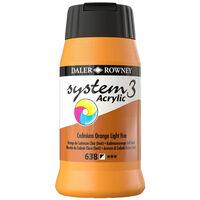 System 3 Acrylic Paint: Cadmium Orange Light Hue 500ml