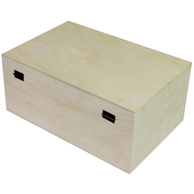Rectangle Natural Wooden Box - 30 x 20 x 13cm image number 3
