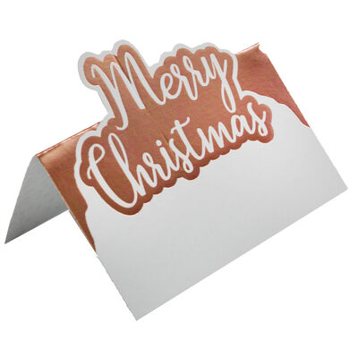 Rose Gold Foil Merry Christmas Place Cards - 10 Pack image number 2