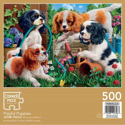 Playful Puppies 500 Piece Jigsaw Puzzle image number 3