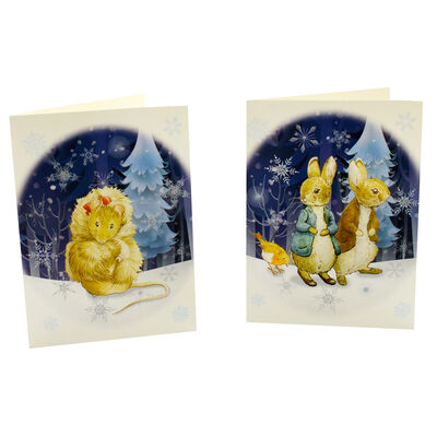 8 Peter Rabbit Christmas Cards in Tin - Cotton Tail image number 3