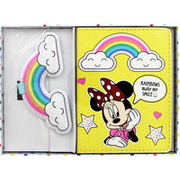 Disney Minnie Mouse Yellow Rainbow Luggage Accessory Set