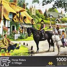 Horse Riders in Village 1000 Piece Jigsaw Puzzle image number 1