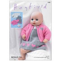 Hayfield Bonus DK: Doll Clothes Knitting Pattern 2485