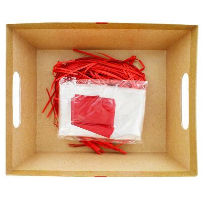 Red Bow Cardboard Gift Hamper Kit image number 3