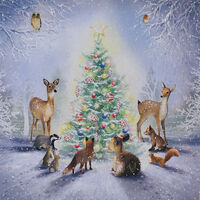 Woodland Christmas Cards: Pack Of 10