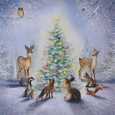 Woodland Christmas Cards: Pack Of 10 image number 2