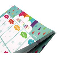 A4 Rainbow Weekly Planner