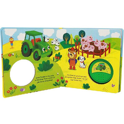 The Green Tractor Big Button Sound Book image number 2