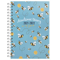 A5 Bees 2021-2022 Day a Page Diary
