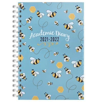 A5 Bees 2021-2022 Day a Page Diary image number 1