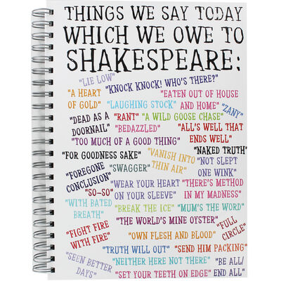 A4 Shakespeare Quote Notebook image number 1