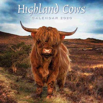 Highland Cows 2020 Square Calendar image number 1