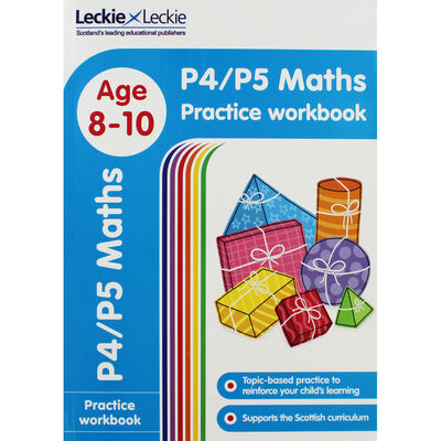 P4 P5 Maths Age 8-10 Practice Workbook image number 1