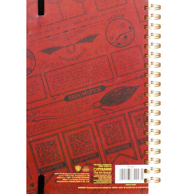 A5 Harry Potter Snitch Lined Notebook image number 3