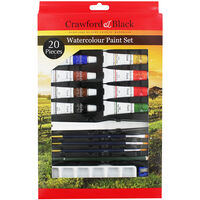 Crawford And Black Watercolour Paint Set - 20 Pieces