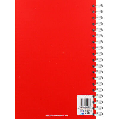 NU A4 Era Bright Red Wiro Lined Notebook image number 3