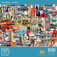 Nostalgic London 500 Piece Jigsaw Puzzle