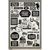 Peaky Blinders Infographic Large Wall Poster