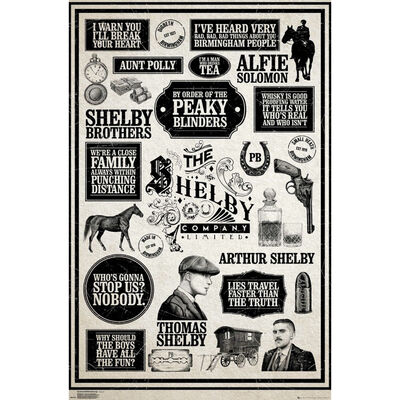 Peaky Blinders Infographic Large Wall Poster image number 1