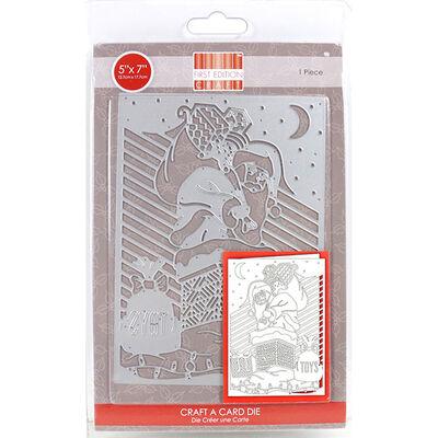 Santa Craft A Card Metal Cutting Die image number 1