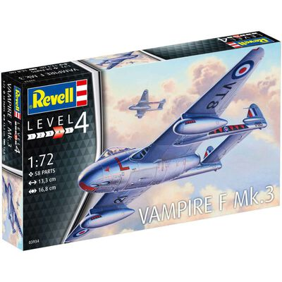 Revell Vampire F Mk-3 Model Kit image number 1