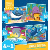 Under the Sea 4-in-1 Jigsaw Puzzle Set