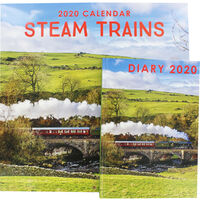 Steam Trains 2020 Calendar and Diary Set