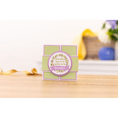 Crafters Companion Clear Acrylic Stamp - Be Beautiful image number 2