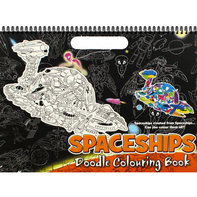Spaceships Doodle Colouring Book image number 1